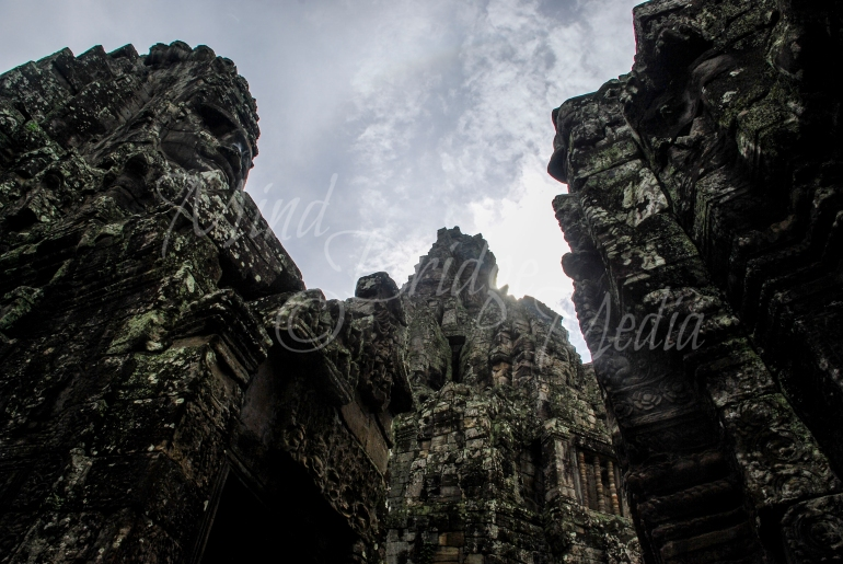 angkor wat, bayon temple, plunged view, depth