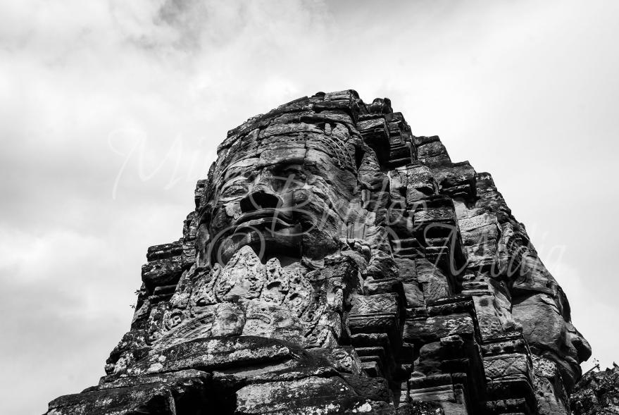 angkor wat, bayon statue, cambodia