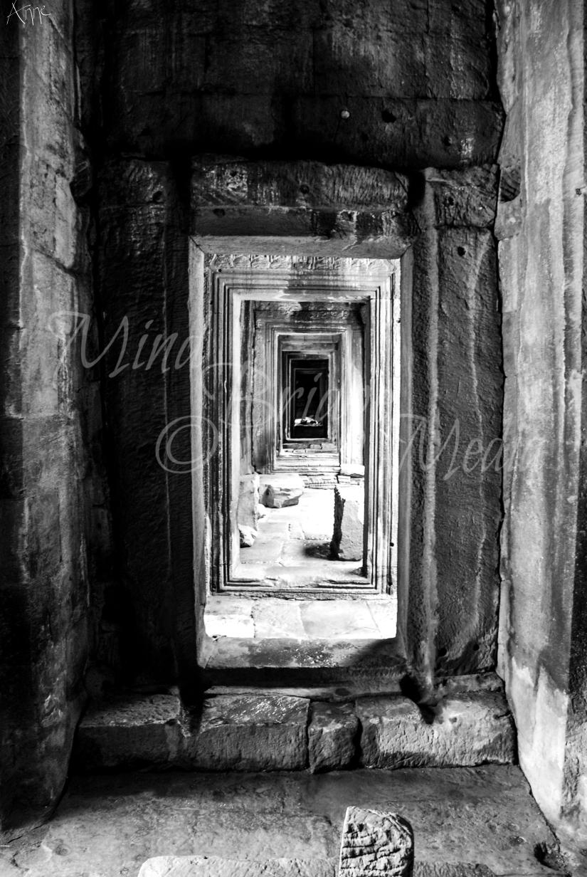 door, effect, geometry, angkor, cambodia