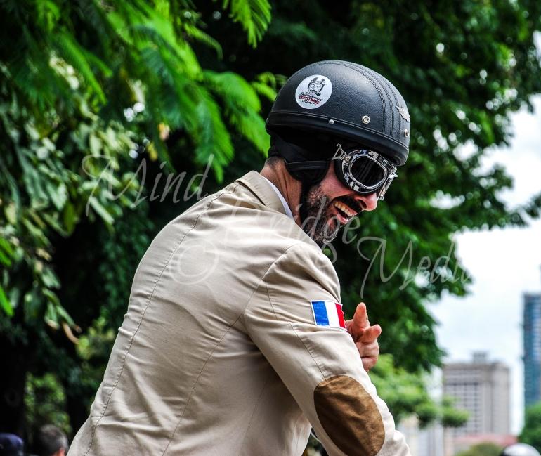 happy french rider