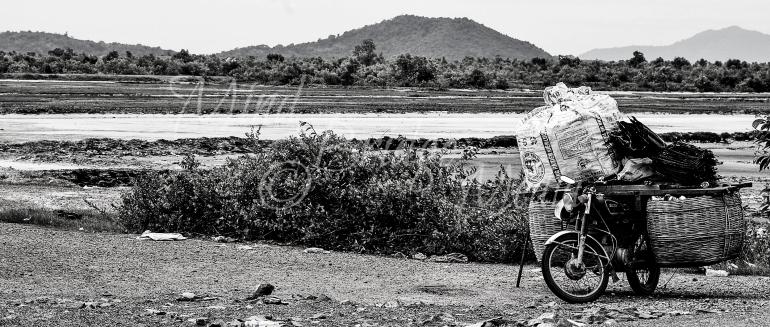 motorbike, cambodia, vietnam, scenary